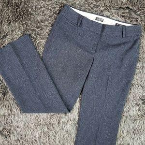 Ann Taylor LOFT Marisa Trousers Navy Blue Tweed